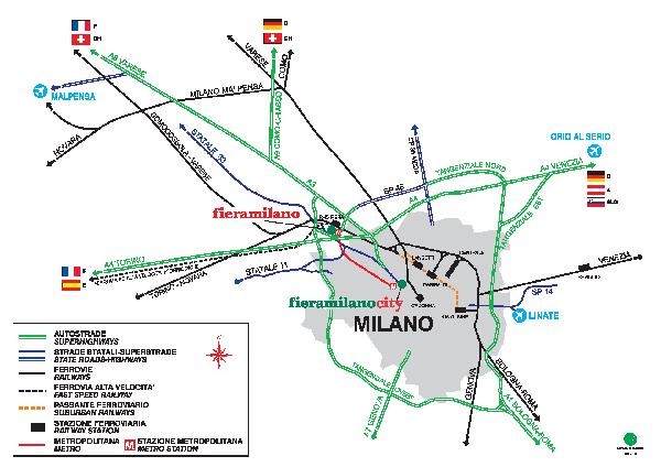 Милан вокзал схема